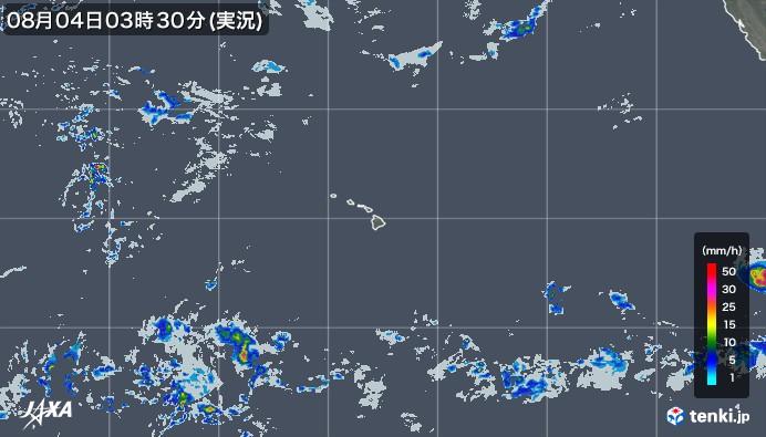 tenki.jp×JAXA ハワイの雨雲の動き2021年05月18日00:00(日本時)発表)