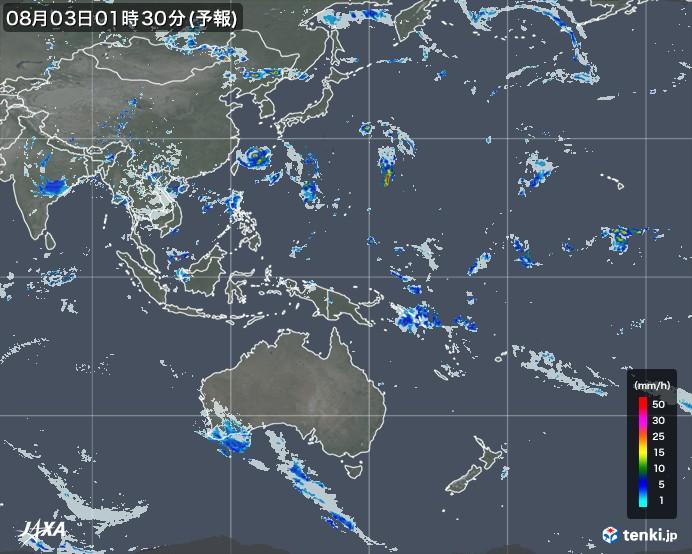 世界の雨雲レーダー