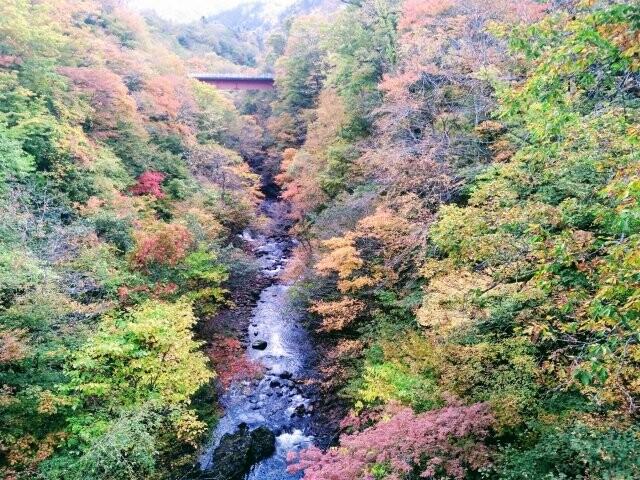 五色渓谷の写真