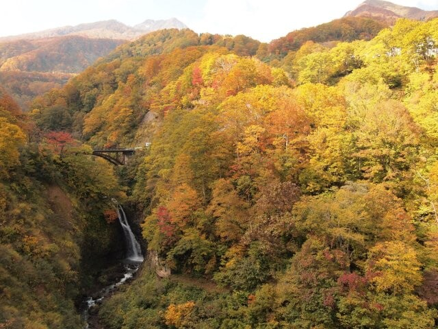 大田切渓谷の写真