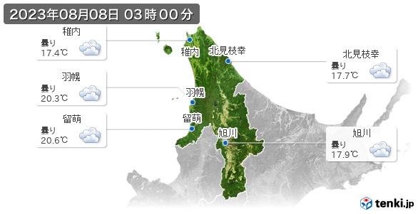 道北の現在の天気(全国)