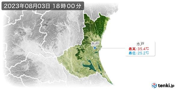 茨城県の最高・最低気温(全国)