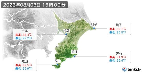 千葉県の最高・最低気温(全国)