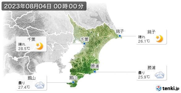 千葉県の現在の天気(全国)