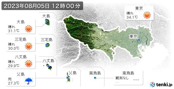 東京都の現在の天気(全国)