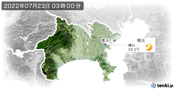 神奈川県の現在の天気(全国)