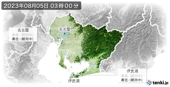 愛知県の最高・最低気温(全国)