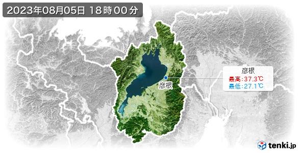 滋賀県の最高・最低気温(全国)