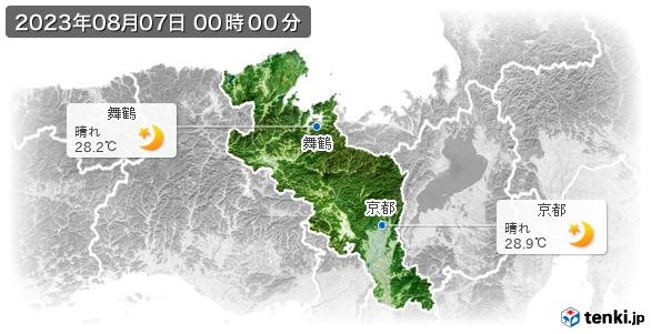 京都府の現在の天気(全国)