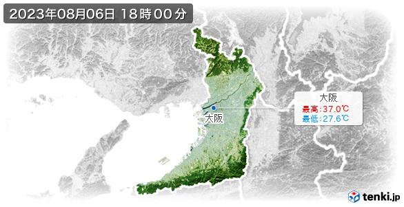 大阪府の最高・最低気温(全国)