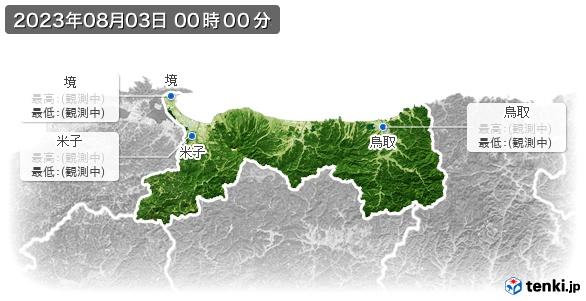 鳥取県の最高・最低気温(全国)