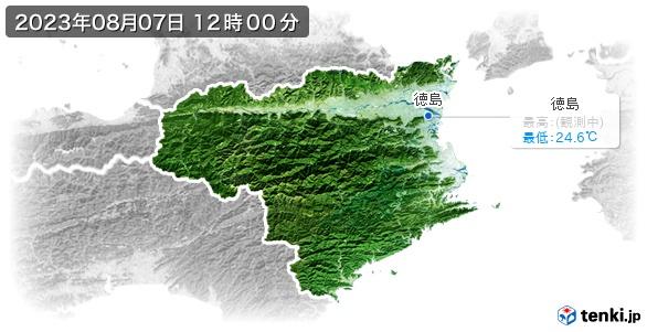 徳島県の最高・最低気温(全国)