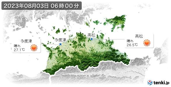 香川県の現在の天気(全国)