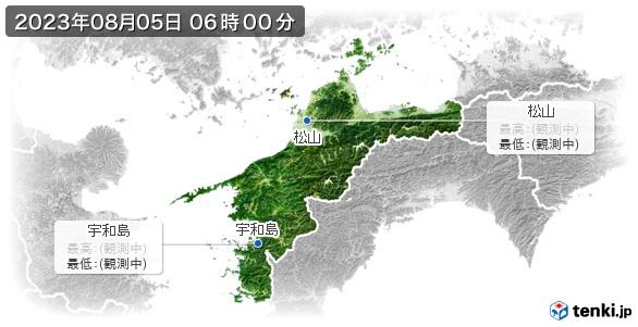 愛媛県の最高・最低気温(全国)
