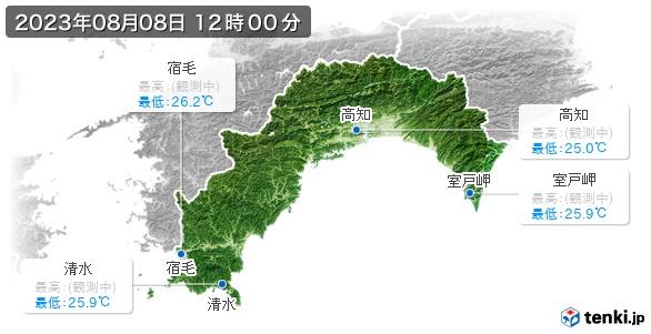 高知県の最高・最低気温(全国)