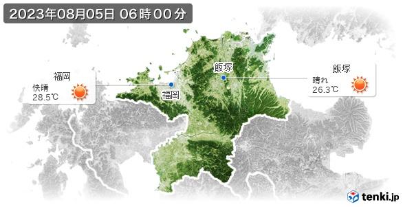 福岡県の現在の天気(全国)