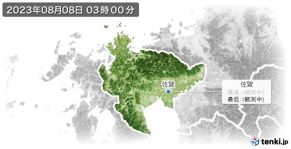 佐賀県の最高・最低気温(全国)