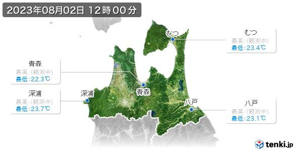 青森県の最高・最低気温(全国)