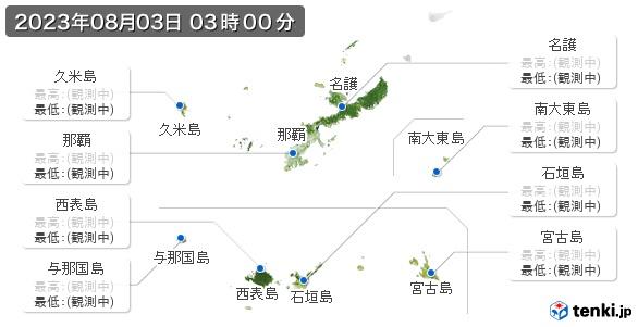沖縄県の最高・最低気温(全国)