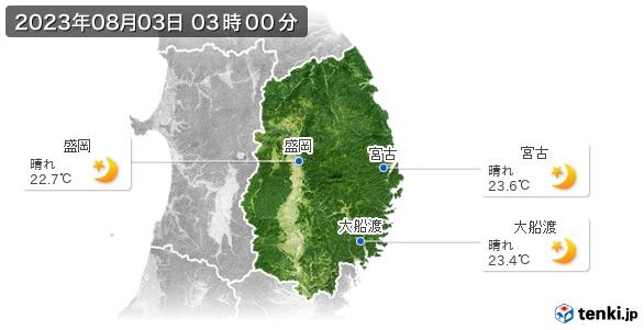 岩手県の現在の天気(全国)