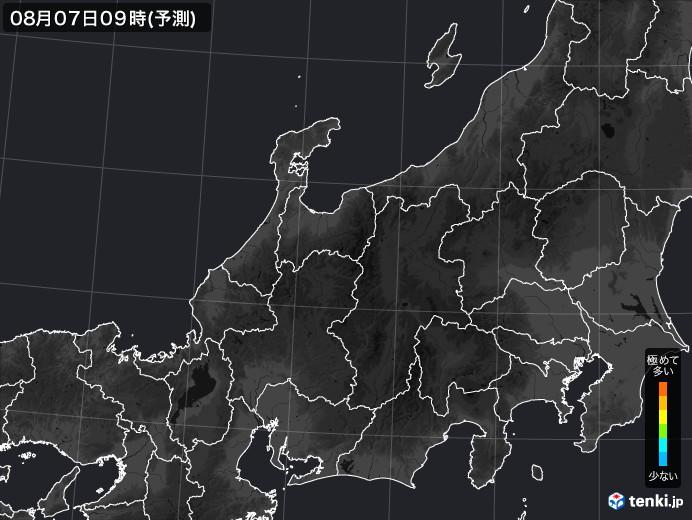 北陸地方の雨雲の動き(実況)