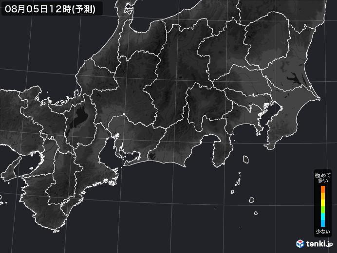 東海地方の雨雲の動き(実況)