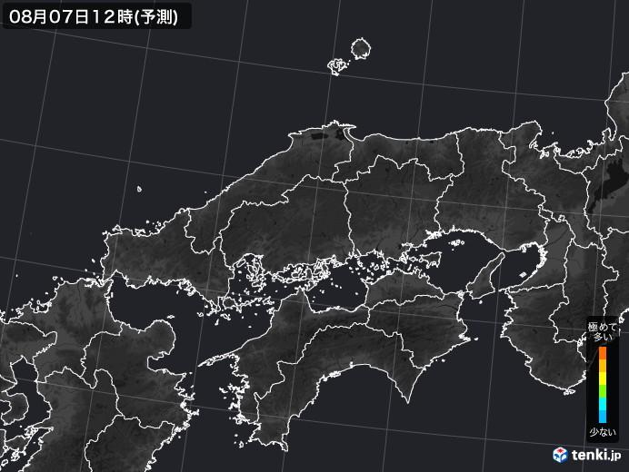 中国地方の雨雲の動き(実況)