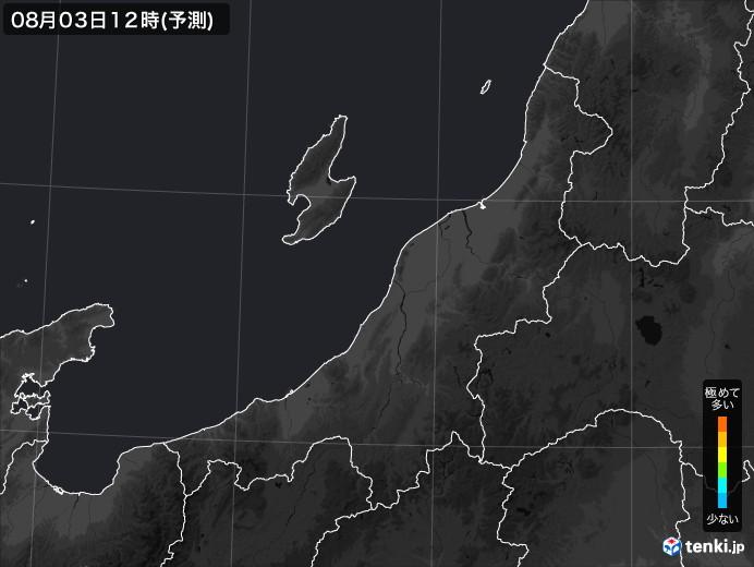 新潟県のPM2.5分布予測