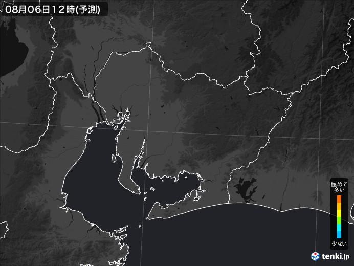 愛知県のPM2.5分布予測