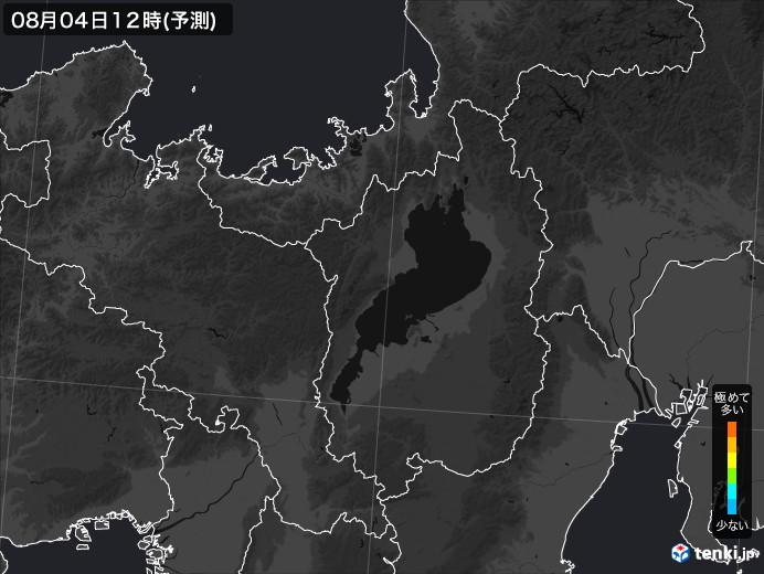 滋賀県のPM2.5分布予測