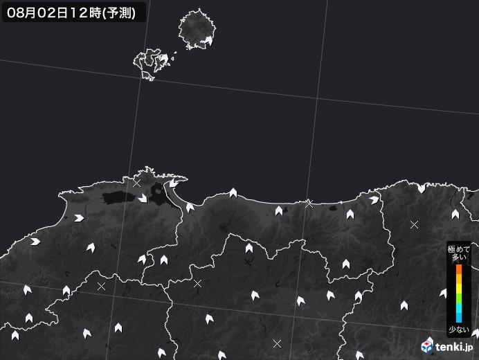 鳥取県のPM2.5分布予測