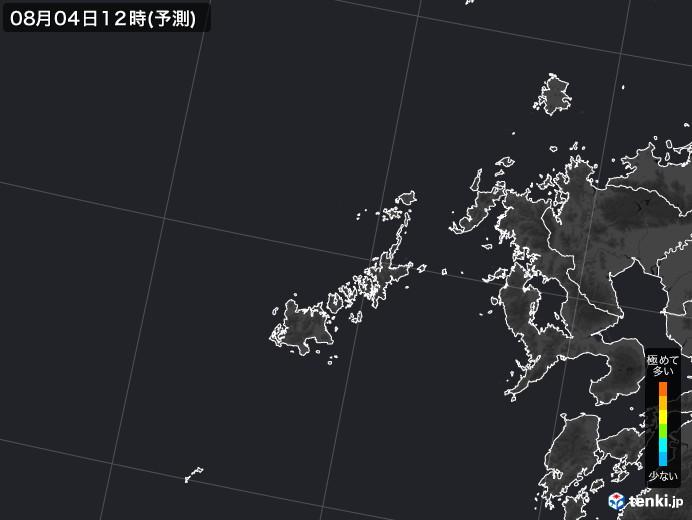 五島列島(長崎県)のPM2.5分布予測