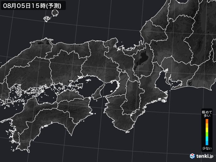 近畿地方の雨雲の動き(実況)