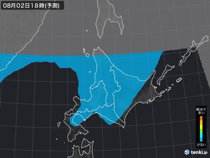 北海道地方のPM2.5分布予測