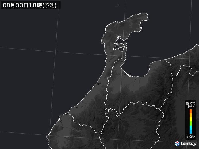 石川県のPM2.5分布予測