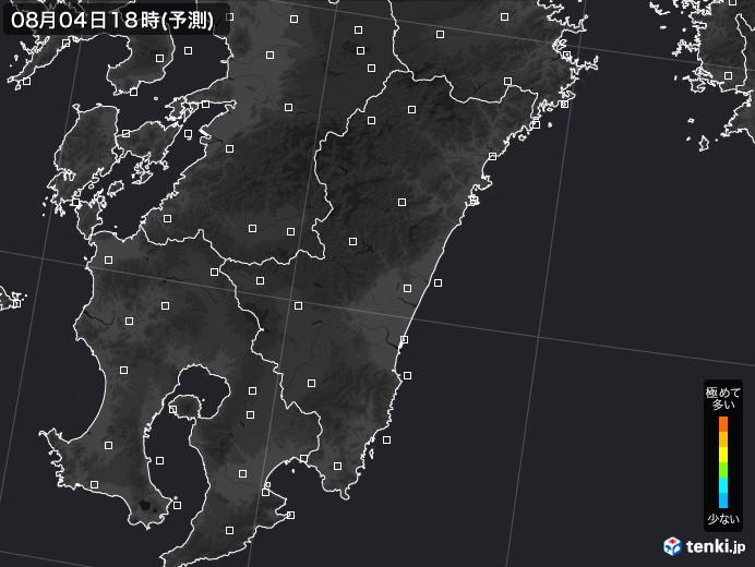 宮崎県のPM2.5分布予測