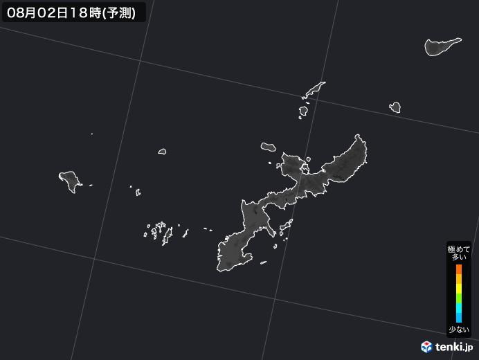 沖縄県のPM2.5分布予測