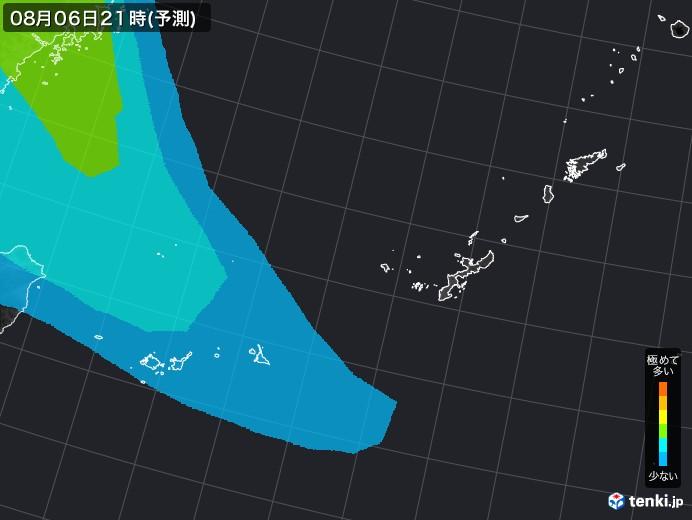 沖縄地方の雨雲の動き(実況)