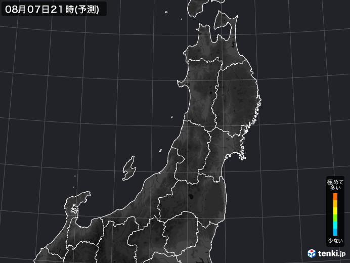 東北地方の雨雲の動き(実況)