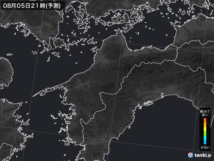 愛媛県のPM2.5分布予測