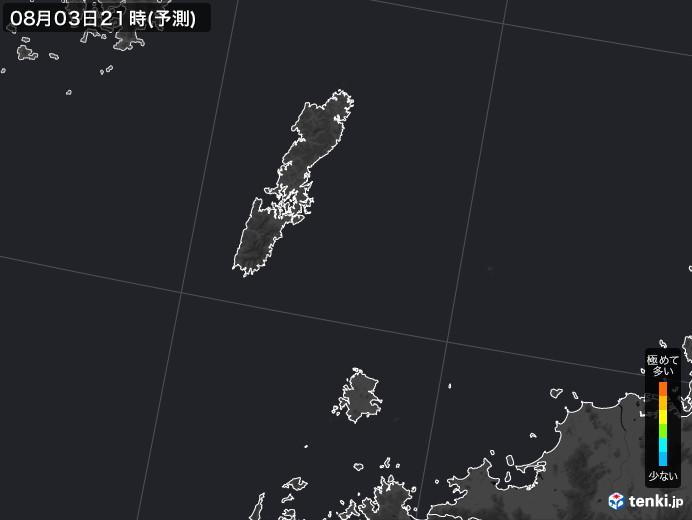 壱岐・対馬(長崎県)のPM2.5分布予測