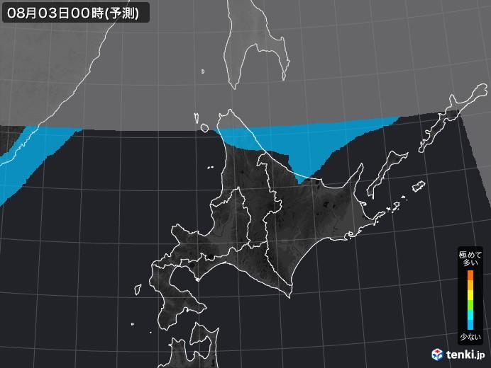 北海道地方の雨雲の動き(実況)
