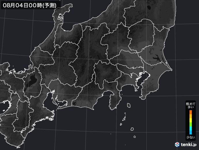 関東・甲信地方のPM2.5分布予測
