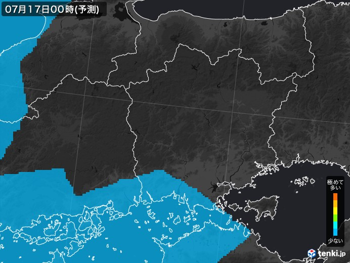 岡山県のPM2.5分布予測 - 日本気...