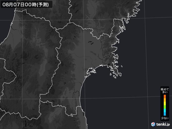 宮城県のPM2.5分布予測