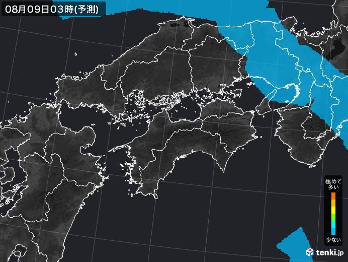 四国地方のPM2.5分布予測