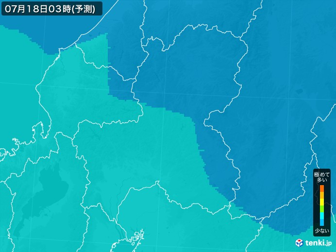 岐阜県のPM2.5分布予測