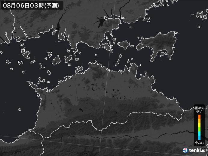 香川県のPM2.5分布予測