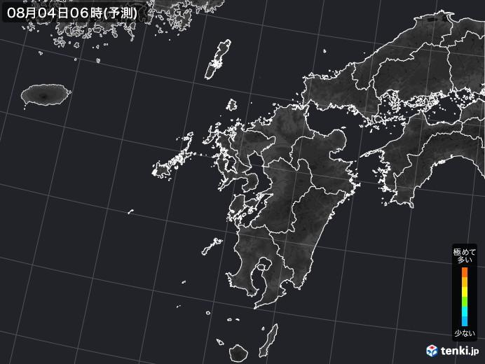 九州地方の雨雲の動き(実況)