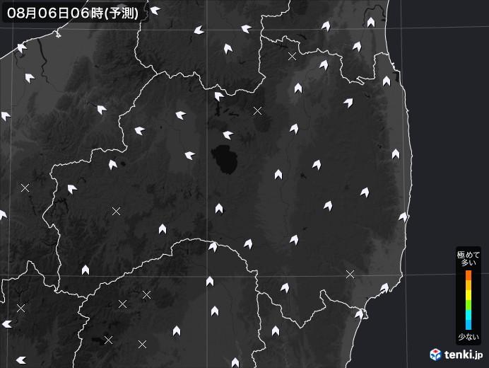 福島県のPM2.5分布予測